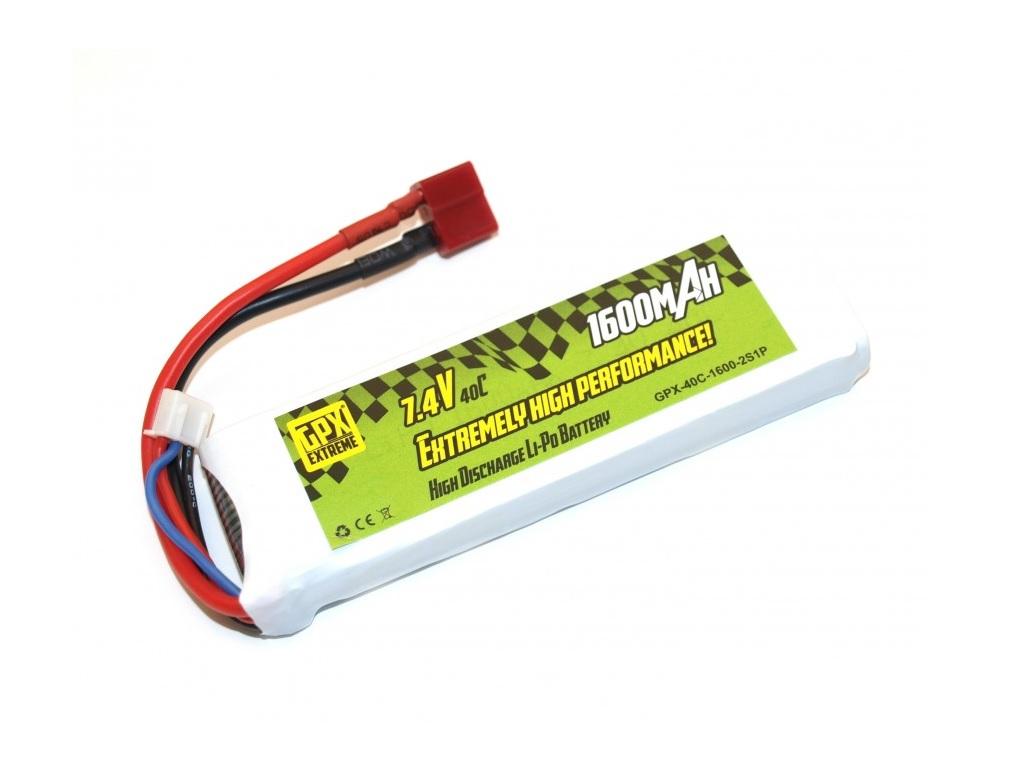 Polnilna baterija LiPo 7.4V 1600mAh T-priključek