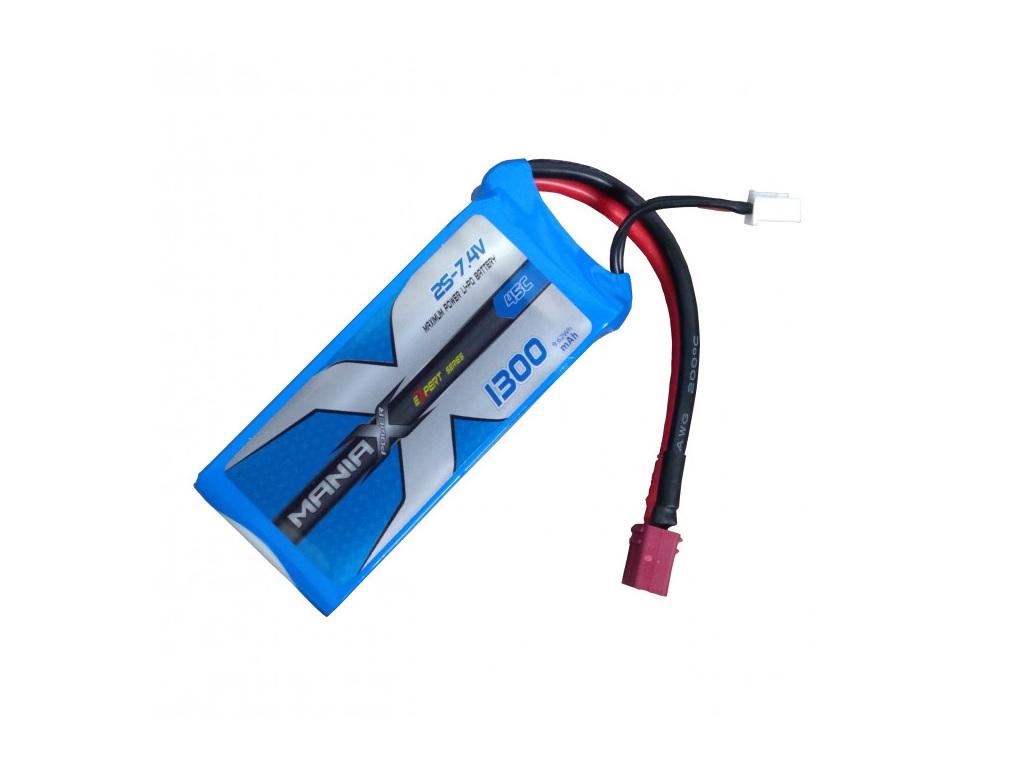 Polnilna baterija LiPo 7.4V 1300mAh T-priključek