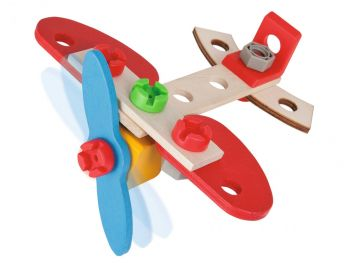 Otroška lesena igrača Eichhorn Constructor Letalo