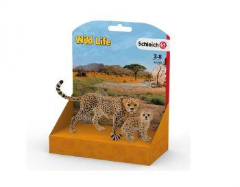 Schleich Gepard - Samica in mladič