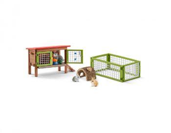 Schleich zajčnik - Set z zajčki in dodatki