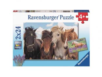 Sestavljanka Konji 2x24 Ravensburger