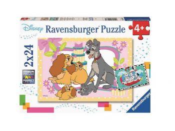Sestavljanka Disney Dama in Potepuh 2x24d Ravensburger