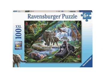 Sestavljanka Družine savanskih živali 100d Ravensburger