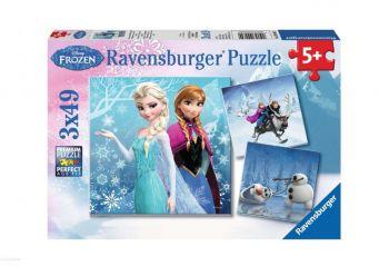 Sestavljanka Frozen, Zimska pravljica 3x49d Ravensburger