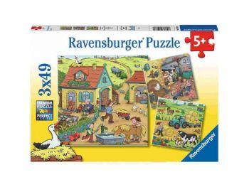 Sestavljanka Kmetija kjer se veliko dogaja 3x49 Ravensburger