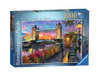 Sestavljanka Londonski most v sončnem zahodu 1000d Ravensburger