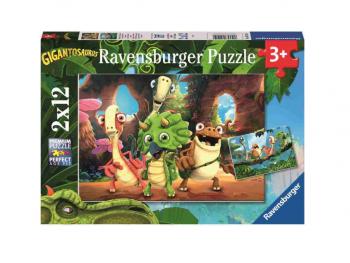 Sestavljanka Mala tolpa dinozavrov 2x12 Ravensburger