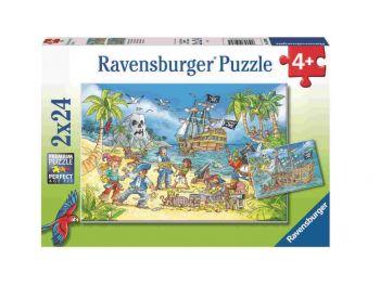 Sestavljanka Pirati in skriti zaklad 2x24 Ravensburger
