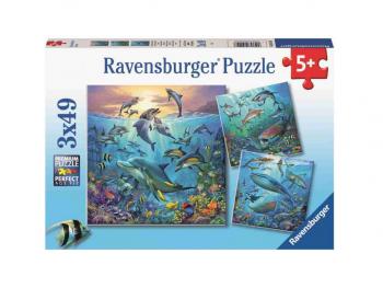Sestavljanka Pod vodo 3x49 Ravensburger