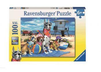 Sestavljanka Psi na plaži100XXL Ravensburger