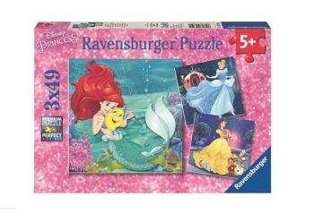 Sestavljanka Pustolovščine princes 3x49d Ravensburger