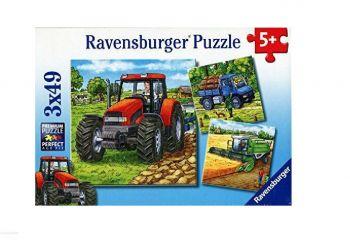 Sestavljanka Stroji na kmetiji 3x49d Ravensburger