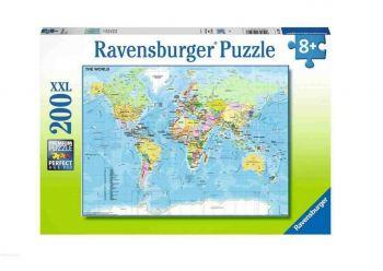 Sestavljanka Zemljevid sveta 200XXL Ravensburger