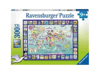 Sestavljanka Zemljevid sveta 300d Ravensburger