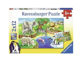 Sestavljanka Živalski vrt 2x12 Ravensburger