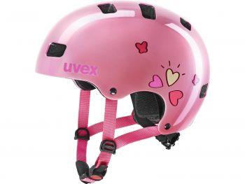 Čelada za kolo Uvex KID 3 PINK HEART 51-55 cm