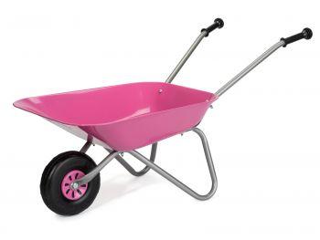 Otroška kovinska samokolnica Rolly Toys Pink