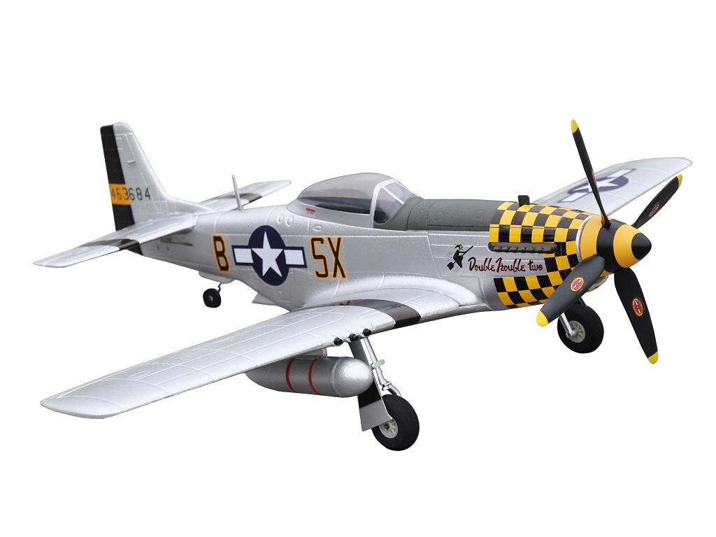 RC Letalo MUSTANG P-51D Yellow RTF