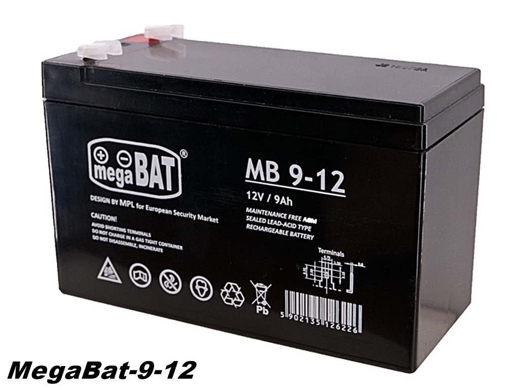 Polnilna svinčena baterija 12V 9 Ah