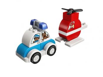 LEGO Duplo Gasilski helikopter in policijski avto 10957