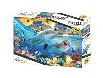 Puzzle sestavljanka 3D Delfini 500 kosov