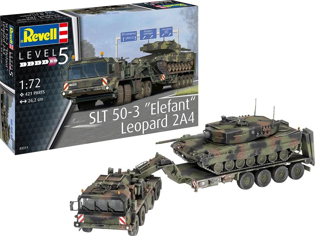Revell SLT 50-3 ''Elefant'' + Leopard 2A4 03311