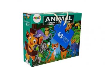XXL Puzzle Živali iz džungle 48 kosov