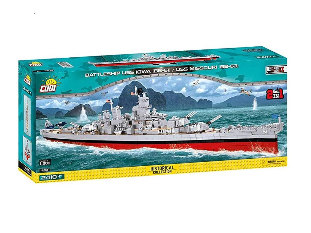Cobi kocke Ladja USS Iowa in USS Missouri