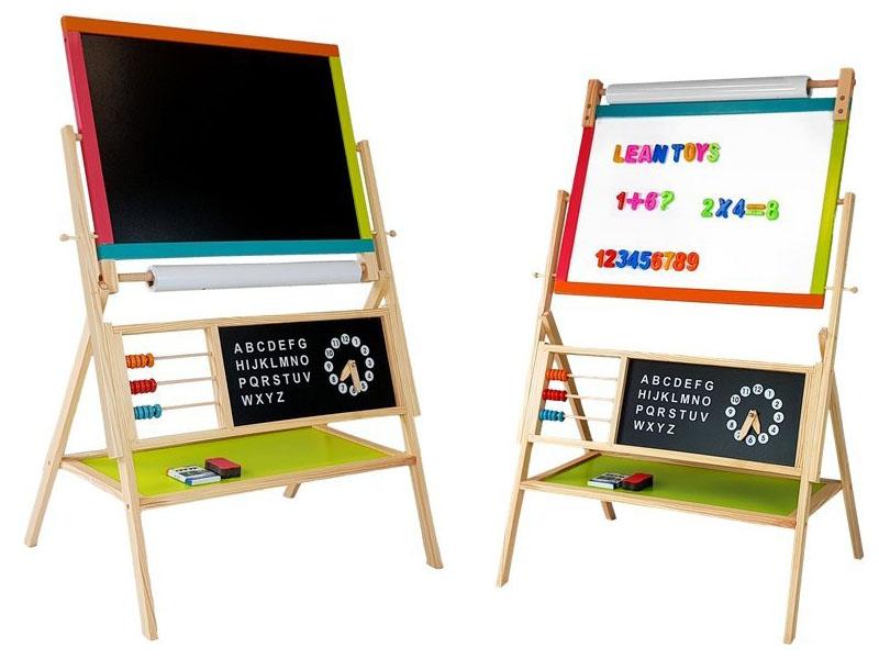 Lesena samostoječa otroška tabla