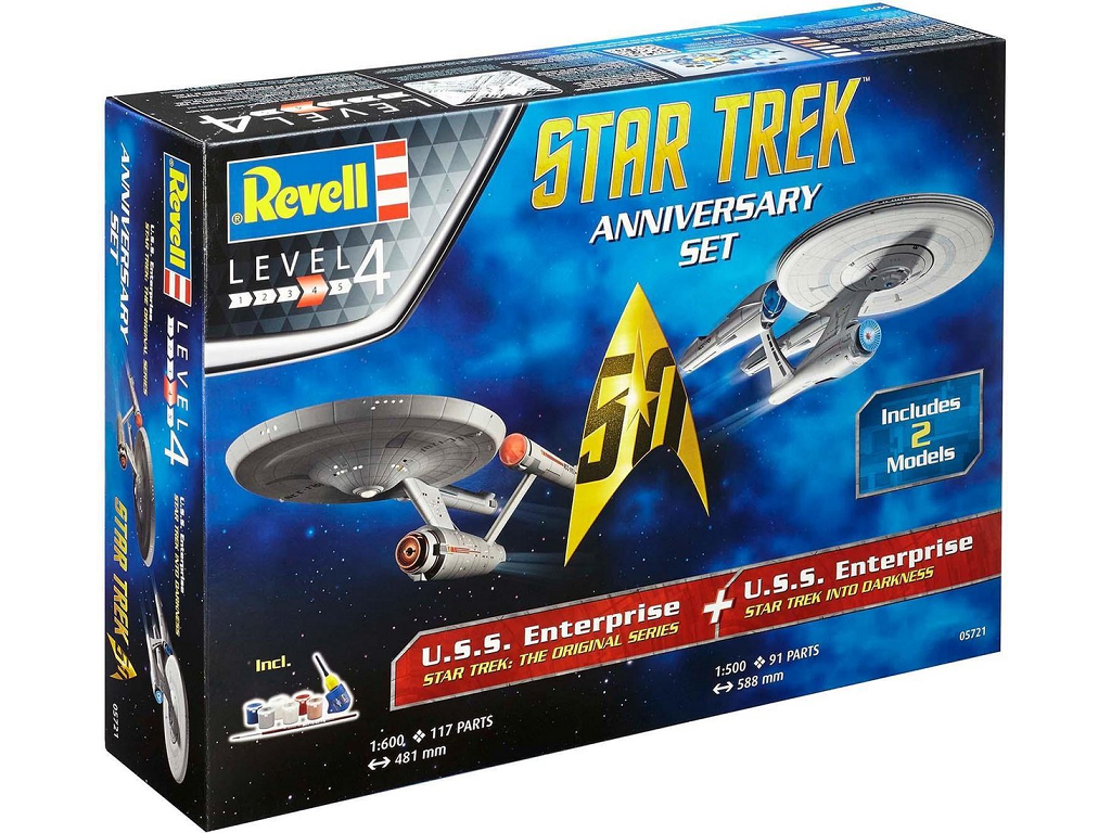 Revell Star Trek Anniversary Set 05721