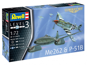 Revell maketa letala Me262 & P-51B 03711