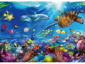 Sestavljanka Potapljanje na dnu oceana 1000 delna