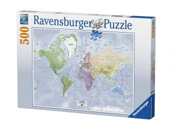 Sestavljanka Zemljevid sveta 500 delna