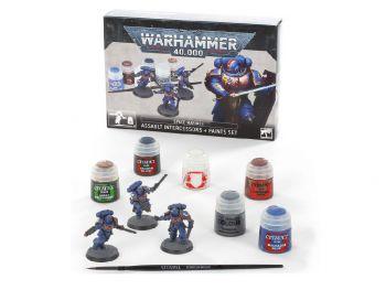 Warhammer 40000 - Assault Intercessors - set z barvami