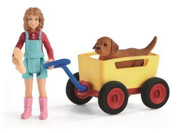 Voziček za psa in figura 42543