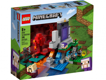 LEGO Minecraft Uničen portal 21172