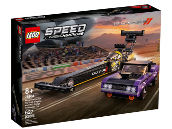LEGO Speed Champions Mopar Dodge//SRT Top Fuel Dragster and 1 76904
