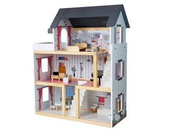 Lesena otroška hišica za punčke Luna 7682