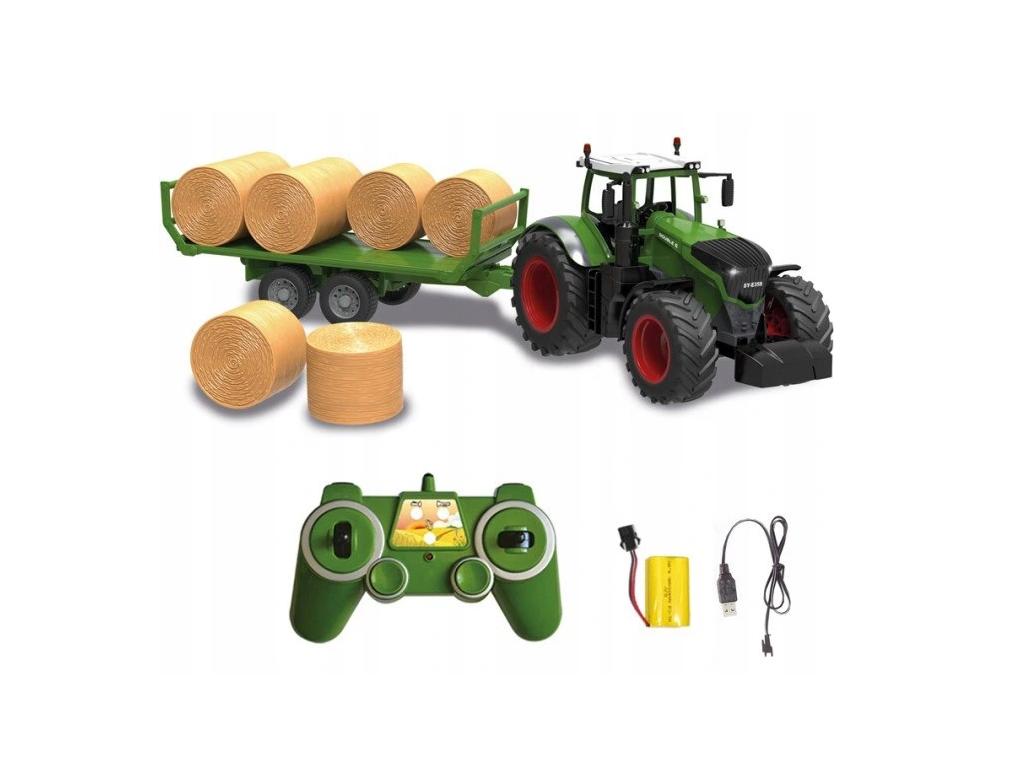 RC Traktor Double Eagle s prikolico z balami