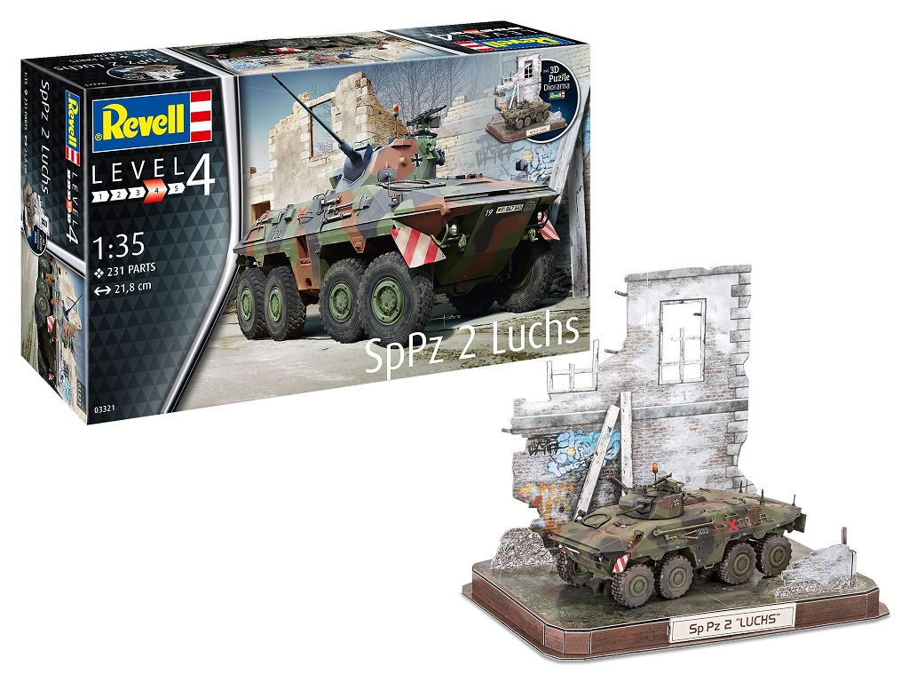Revell SpPz2 Luchs + 3D Puzzle Diorama 03321