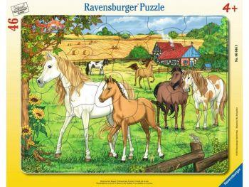 Sestavljanka konji na paši 46 delneniku 46 delne