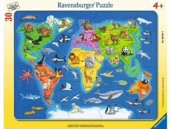 Sestavljanka zemljevid sveta 30 delne