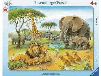 Sestavljanka Afriške živali savana 30 delne
