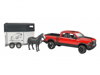 Bruder Ram 2500 Power wagon s prikolico za konja 02501