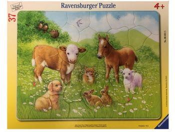 Sestavljanka živali na travniku 37 delne