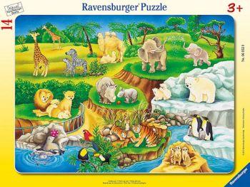 Sestavljanka živalski vrt 14 delne