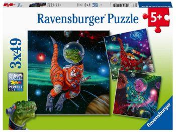 Sestavljanka Ravensburger vesoljski dinozavri 3x49