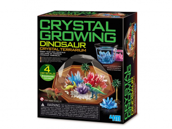 Kristalni terarij z dinozavri