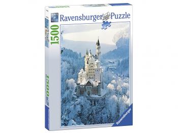 Sestavljanka Grad Neuschwanstein pozimi 1500d
